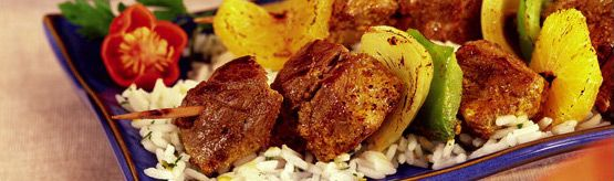 Curry paste and orange combine to create a sweet and spicy beef recipe. Recipe Beef Orange Kabob #CanadianBeef #Steak