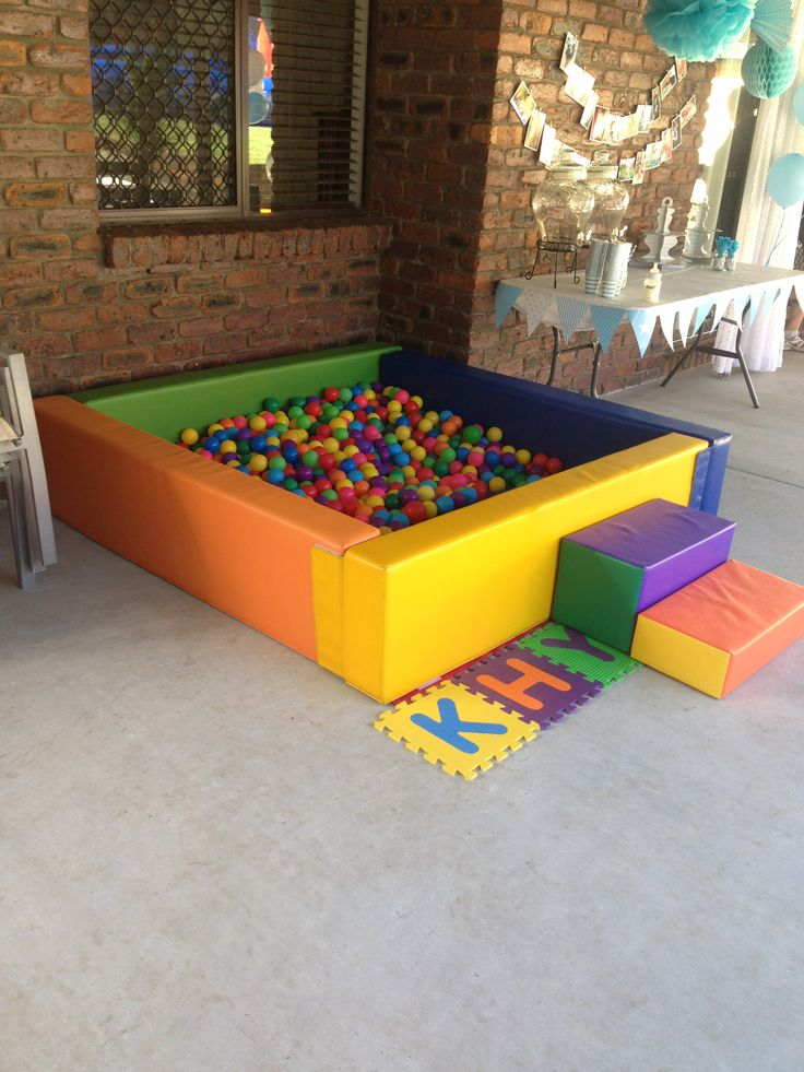we hired a ball pit for all the little babys that came, and hired jumping castle for the older kids. first birthday.