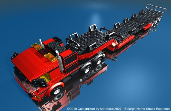 Lego 7747: Town - Wind Turbine Transport - Customized by Davide Solurghi (Morpheus)