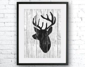 Moose 2 kunst illustratie Moose schilderen van SeasonsSpace op Etsy
