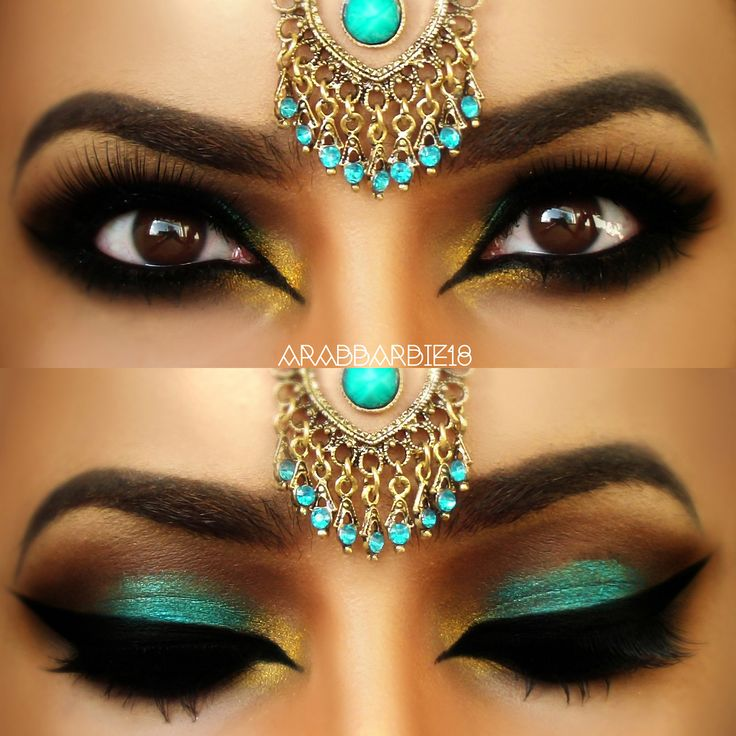 Maquillaje Bollywood #MakeUp #Arabe