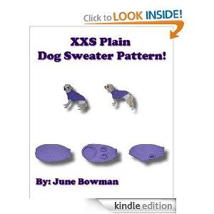 XXS Plain Dog Sweater Pattern eBook! Knit Dog Sweater ...