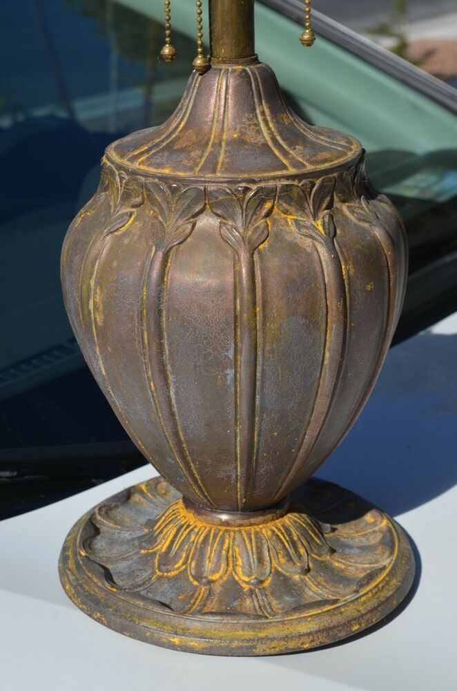 Antique 1930 S Edward Miller Art Deco Flower Form Table Lamp Base Signed Diy Table Lamp Base Lamp Bases Table Lamp