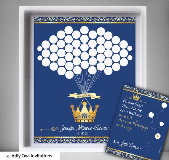 Prince  Royal Guest Book Printable Alternative and  Prince  Royal Wall Art for B…