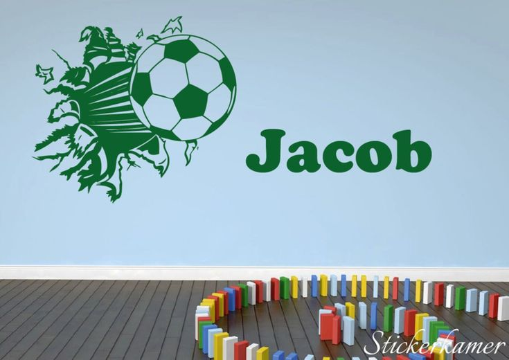 Naamsticker voetbal uit de muur