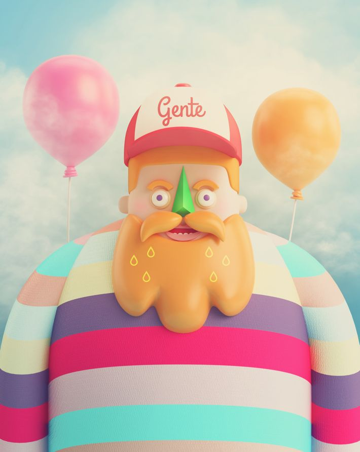 GENTE by AARON MARTINEZ, via Behance