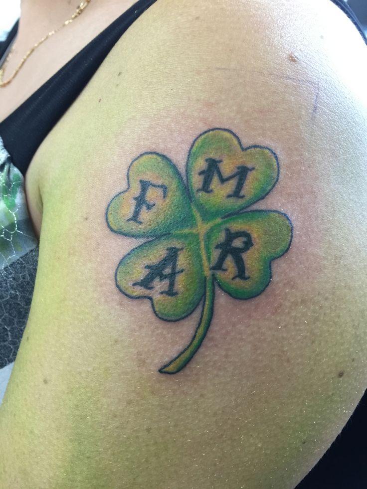 four leaf clover tattoo by Orlando Socarras