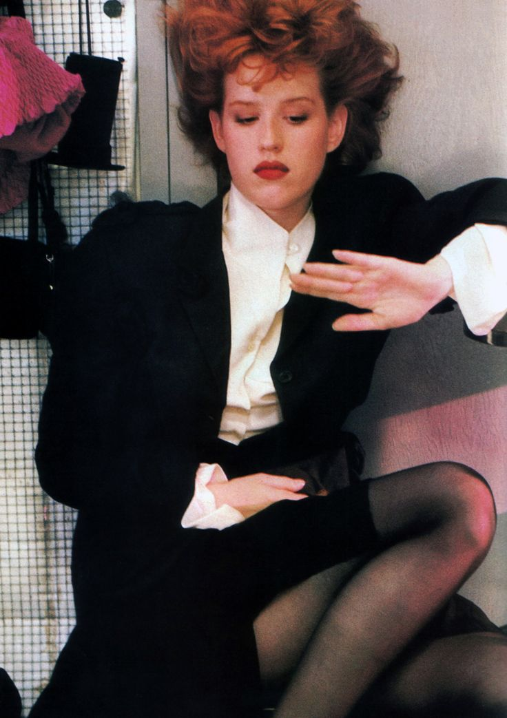 Molly Ringwald, photographed by Sheila Metzner for American Vogue, September 1987. Clothing by John Galliano.