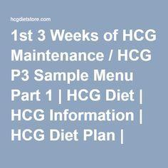 1st 3 Weeks of HCG Maintenance / HCG P3 Sample Menu Part 1 | HCG Diet | HCG Information | HCG Diet Plan | HCG Lotion