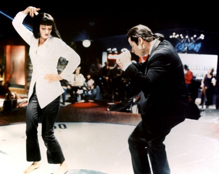 Uma Thurman y John Travolta en Pulp Fiction