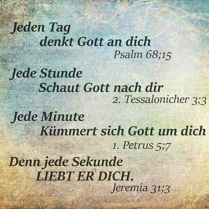 Jeden Tag denkt Gott an dich – #denkt #dich #festl…