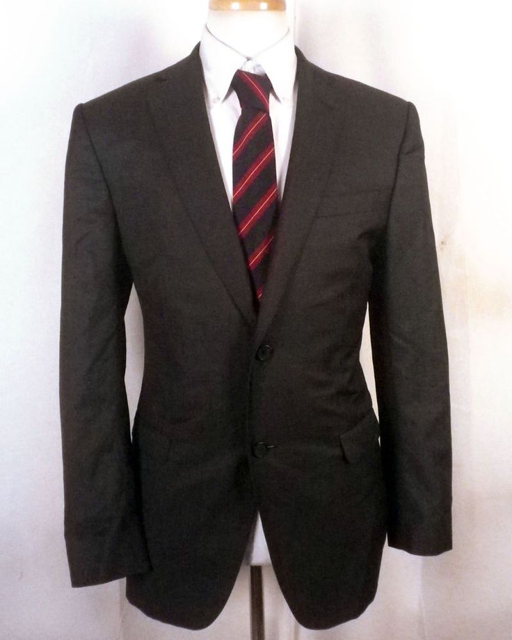 Ermenegildo Z Zegna Charcoal Wool Mohair Blazer Sportcoat canvassed pick 42 R #ZZegna #TwoButton