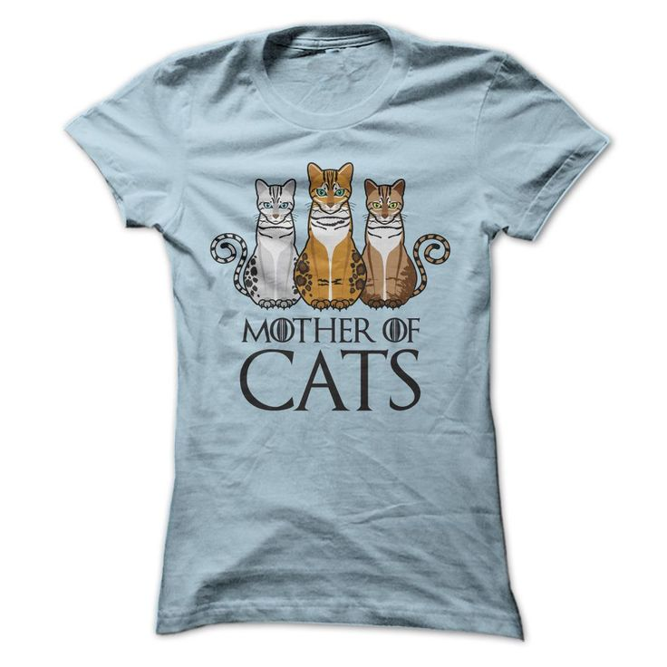 Mother of Cats T shirt. Sizes small to 3x. Various colors.
