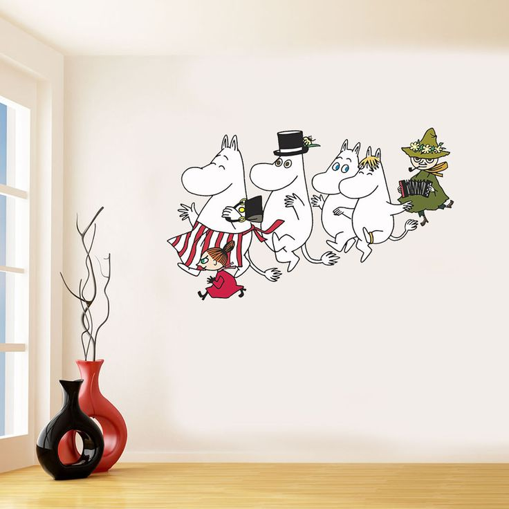 MOOMIN Inspired colour Wall Sticker / Art in Home, Furniture & DIY, Home Decor, Wall Decals & Stickers | eBay