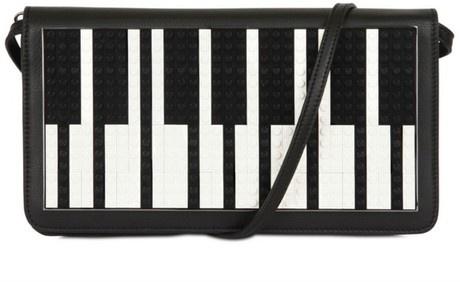 Piano Clutch LIDIASHOPPING.IT | SHOP ONLINE #lespetitsjoueurs #black%white #black #white  #lidiashopping