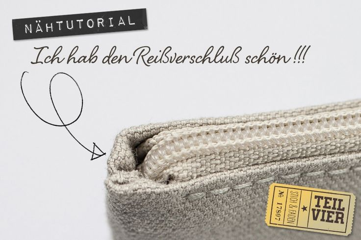 Anleitung Reißverschluß einnähen ohne Knubbel von Stich & Faden, Teil 4