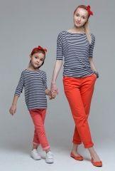 Семейные комплекты - футболки - комплект полосатых футболок majorca для мамы и дочки Киров