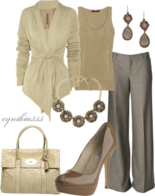 """Very Olivia Pope --- """"Cream Dream"""" by cynthia335 on Polyvore"""