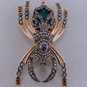 Spider brooch