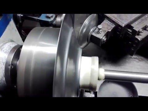 Metal spinning d-340mm www.rosik.pl - YouTube