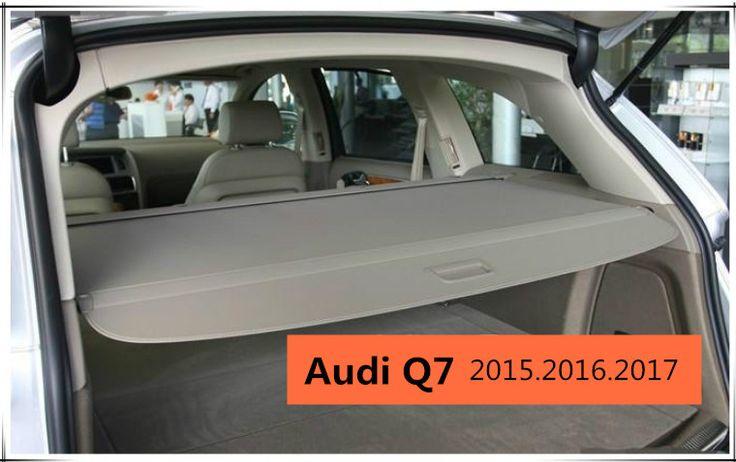 Car Rear Trunk Security Shield Cargo Cover For Audi Q7 2015 2016 2017 High Qualit Black Beige Grey Auto Accessori Cargo Cover Audi Q7 2015 Interior Accessories