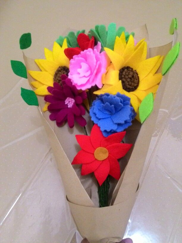 Felt Flowers Bouquet