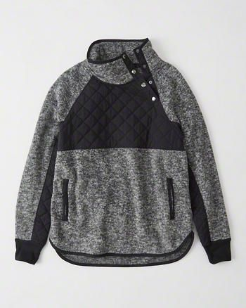 Soft fleece pullover with asymmetrical snap-up front neckline from Abercrombie and Fitch. {AD - this is an affiliate link}