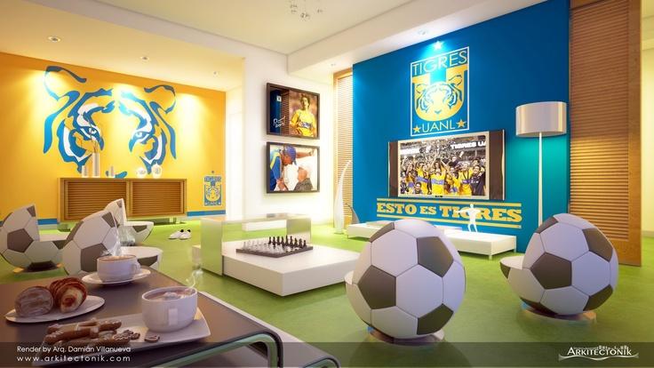 Salón de juegos tigres!  ideas de decoración para niñ@s ...