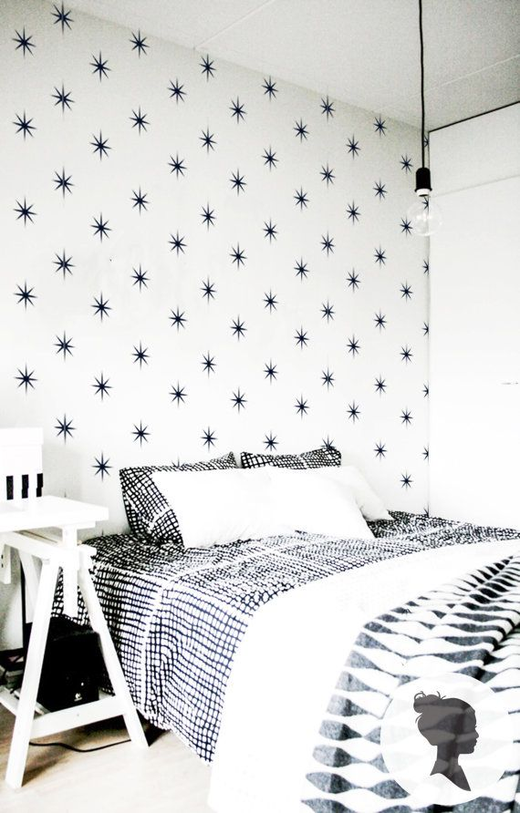 Star Pattern Self Adhesive  Wallpaper D012 by Livettes on Etsy