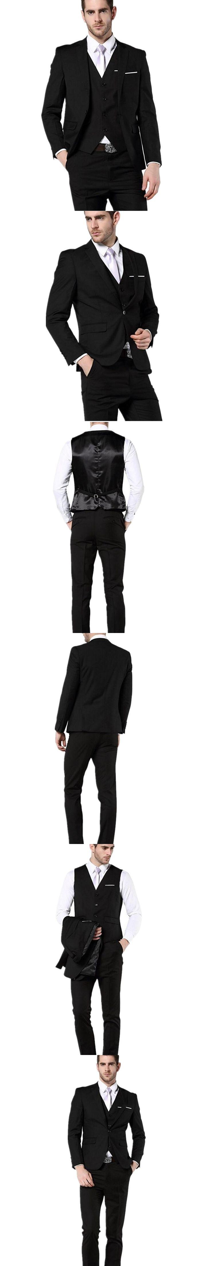 Men Suits Notched Lapel Wedding Suits For Men Two button groom Tuxedos Groomsmen suits two piece Suit custom(Jacket+Pants+vest)