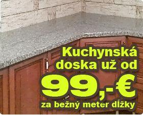 Kuchynská doska už od 99,- € za bežný meter dĺžky