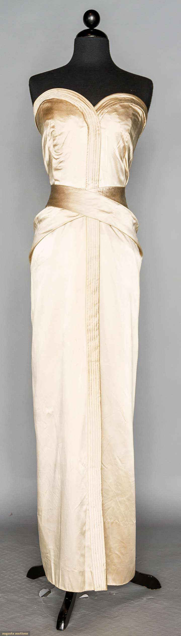 Augusta Auctions - jacques griffe silk satin ball gown, late 1950s