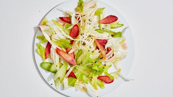 Quick-Pickled Rhubarb Salad
