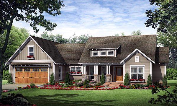 Craftsman House Plan Chp 39737 At COOLhouseplanscom Ideas Pinterest