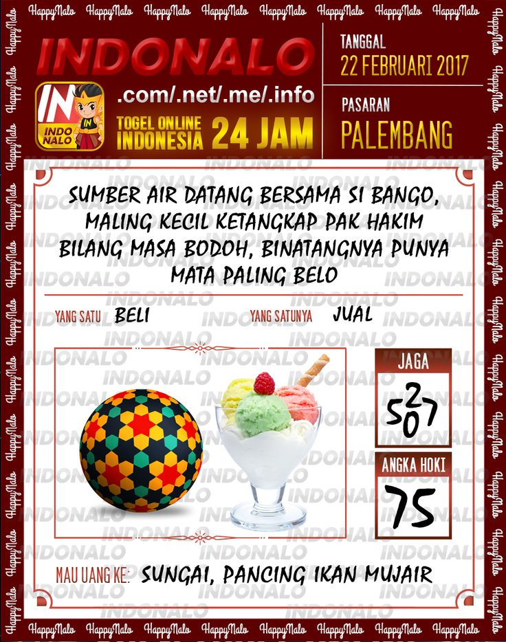 Taysen Pools 2D Togel Wap Online Live Draw 4D Indonalo Palembang 22 Febuari 2017