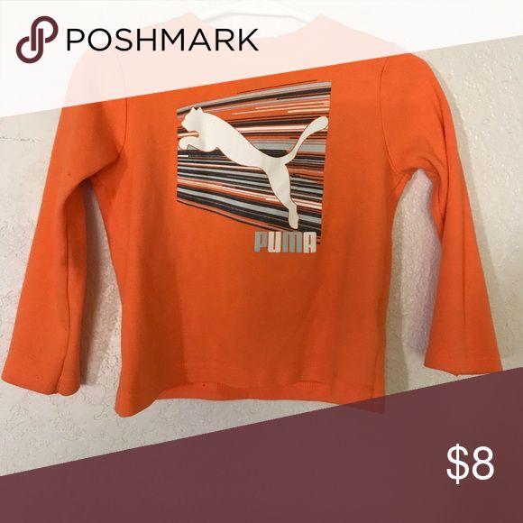 Orange long sleeve 24month Puma shirt Orange long sleeve Boys 24 months PUMA shirt. Worn once . Perfect condition. Puma Shirts & Tops Tees - Long Sleeve
