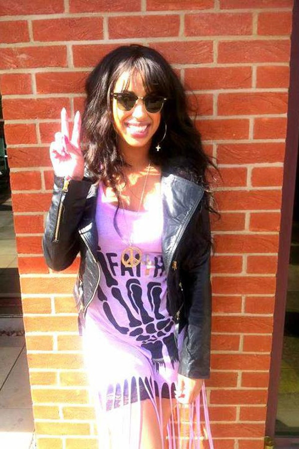 Celeb Style: Stooshe's Alex in our Kate Cropped Leather Jacket