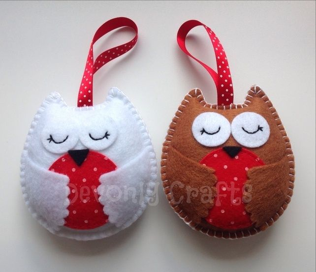 40 best Felt christmas decorations  ornaments images on Pinterest
