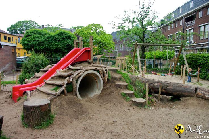 AE Groen Schoolplein Nijmegen 2a Speelheuvel