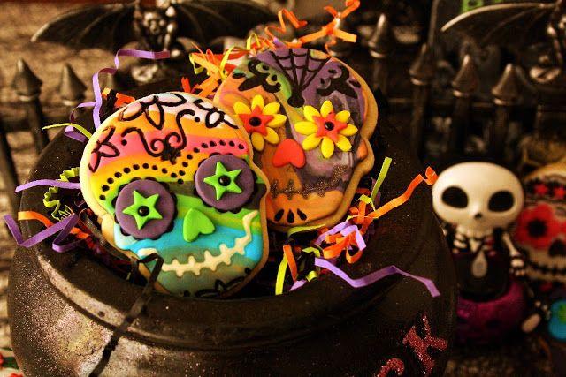 Desirvientadas: Mexican Skull Cookies