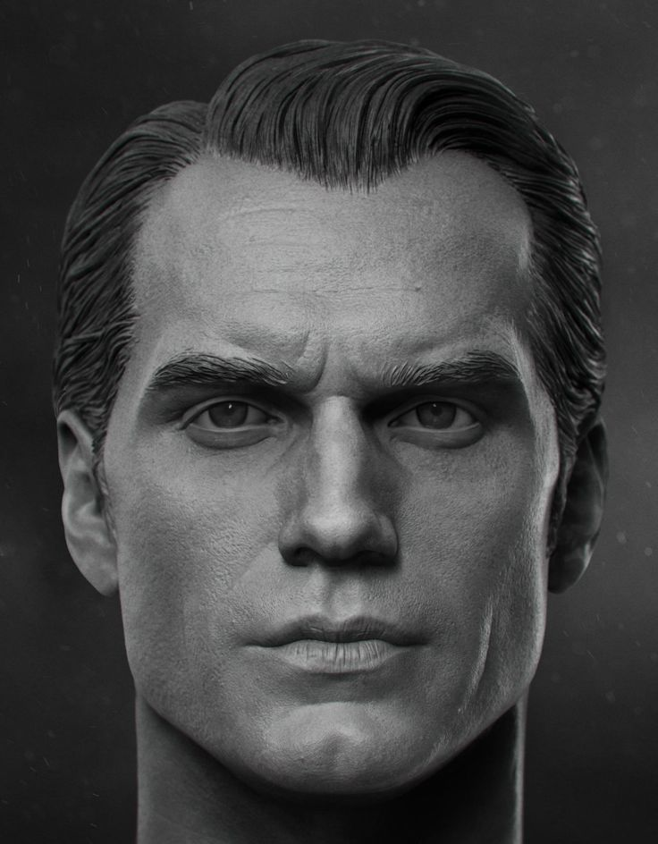Henry Cavill - 1/6th Head Sculpt, vimal kerketta on ArtStation at https://www.artstation.com/artwork/LaJal