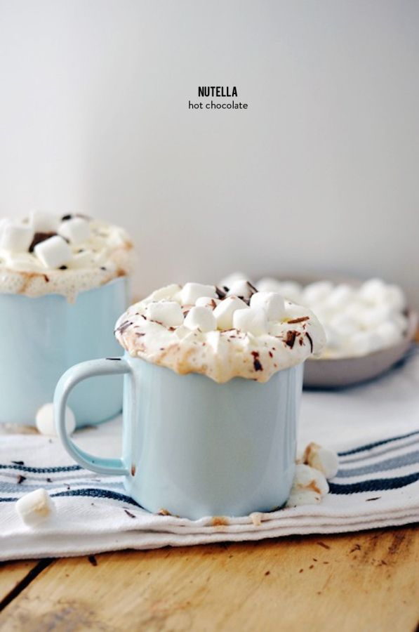 Nutella hot chocolate: http://www.stylemepretty.com/living/2015/12/13/nutella-hot-chocolate/