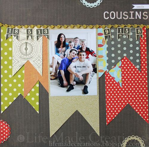 cute bunting using fabric instead: Heavens November, Scrapbook Ideas, Banners Pieces, Big Banners, Scrapbook Stuff, Fabrics, Scrapbook Heavens