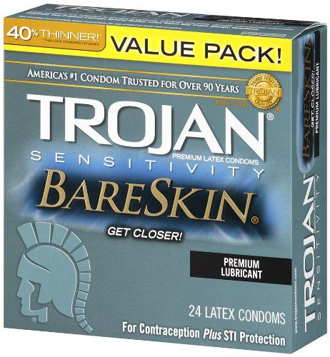 Trojan Condom Sensitivity Bareskin Lubricated, 24 Count    List Price: $23.99 Discount: $10.00 Sale Price: $13.99