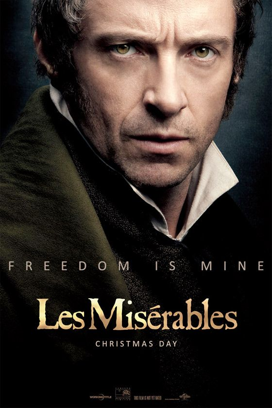 Hugh Jackman Poster for Les Miserables.