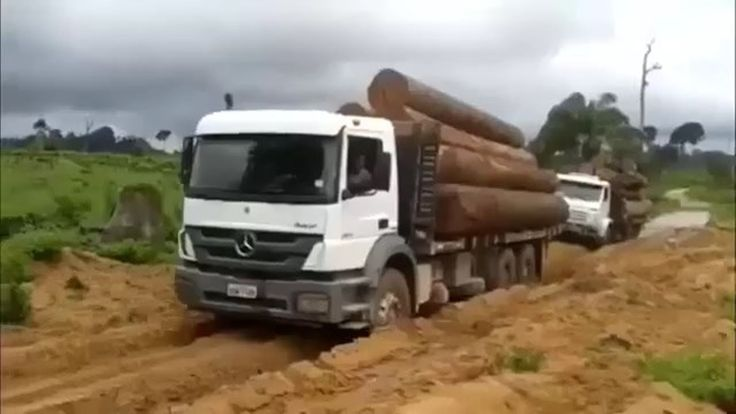 Most Dangerous Heavy Wood Longest Truck Skills Driving Off Road - TRUCK ...