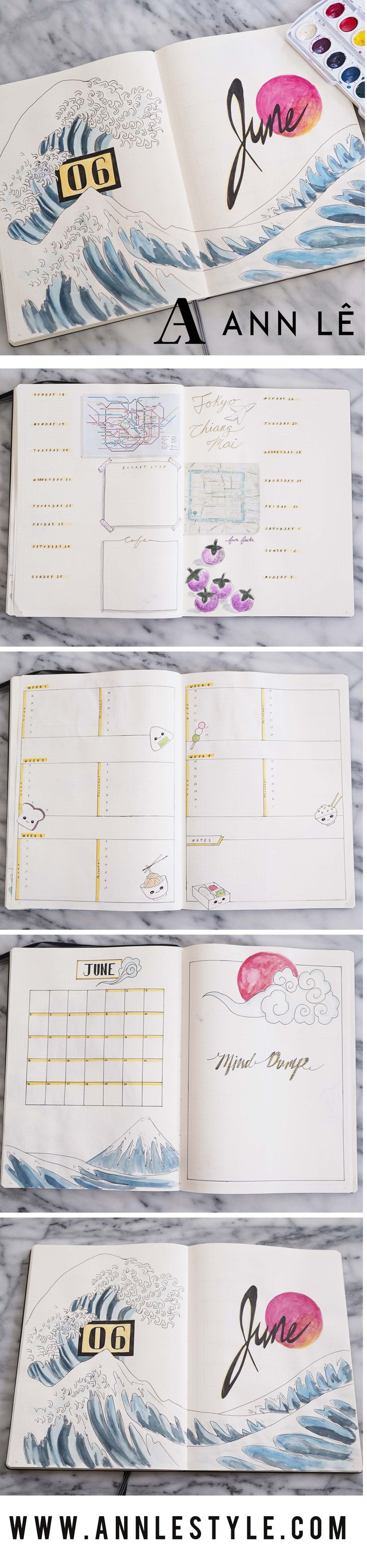 PLAN WITH ME | June 2017 Bullet Journal – Ann Le Style