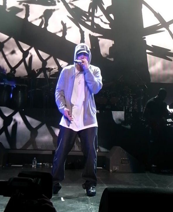 "American rapper Eminem has often been most associated as the ""King of Hip Hop"" seen here at the DJ Hero Party in Los Angeles June 1 2009"