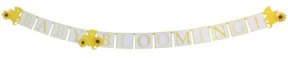 Sunflower Baby Shower Custom Banner Decorations - perfect compliment for a Burlap and Sunflowers baby shower theme by Set To Celebrate