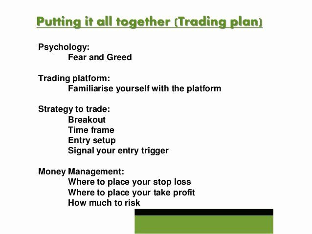 forex trading planner template